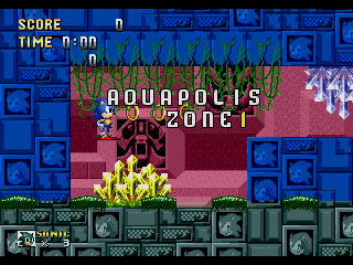 Screenshot Thumbnail / Media File 1 for Sonic the Hedgehog (Japan, Korea) [Hack by Esrael+Yuski the Dog v0.40] (~Sonic Gaiden)